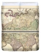 1820 Lizars Wall Map Of Asia Duvet Cover