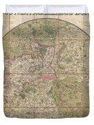 1820 Mogg Pocket Or Case Map Of London Duvet Cover