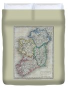 1822 Butler Map Of Ireland Duvet Cover