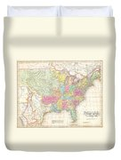 1823 Melish Map Of The United States Of America Duvet Cover