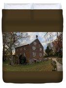1823 North Carolina Grist Mill Duvet Cover