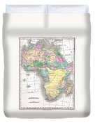 1827 Finley Map Of Africa Duvet Cover