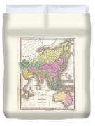 1827 Finley Map Of Asia And Australia Duvet Cover