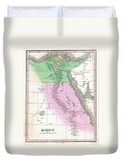 1827 Finley Map Of Egypt Duvet Cover