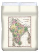 1827 Finley Map Of India  Duvet Cover