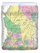 1827 Finley Map Of Mississippi Duvet Cover