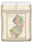 1827 Finley Map Of New Jersey  Duvet Cover