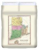 1827 Finley Map Of Rhode Island Duvet Cover