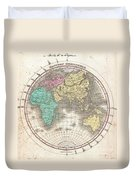 1827 Finley Map Of The Eastern Hemisphere  Duvet Cover
