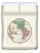 1827 Finley Map Of The Western Hemisphere Duvet Cover