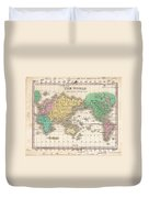 1827 Finley Map Of The World Duvet Cover
