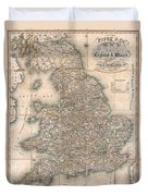 1830 Pigot Pocket Map Of England And Wales Duvet Cover
