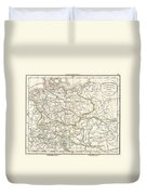 1832 Delamarche Map Of Germany In Roman Times Duvet Cover