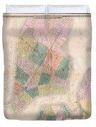 1835 David Burr Map Of New York City Duvet Cover