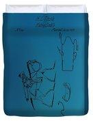 1837 Riding Saddle Patent Duvet Cover
