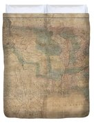 1839 Burr Wall Map Of The United States  Duvet Cover
