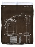 1844 Charles Goodyear India Rubber Goods Patent Espresso Duvet Cover