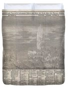 1850 Meyer Comparative Chart Of World Mountains Duvet Cover