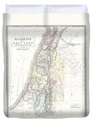 1852 Philip Map Of Palestine  Israel  Holy Land Duvet Cover
