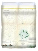 1853 Us Coast Survey Map Or Chart Of Sow And Pigs Reef Off Marthas Vineyard Massachussetts Duvet Cover