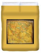 1854 Jacob Monk Wall Map Of North America Duvet Cover