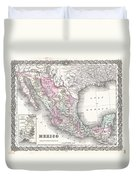 1855 Colton Map Of Mexico - Geographicus1855 Colton Map Of Mexico - Geographicus Duvet Cover