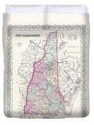 1855 Colton Map Of New Hampshire Duvet Cover