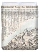 1855 Colton Map Or Chart Of The Worlds Mountains And Rivers Duvet Cover