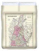 1857 Colton Map Of New Hampshire Duvet Cover