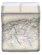 1857 Dufour Map Of Algeria Duvet Cover