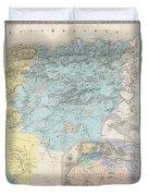 1857 Dufour Map Of Constantine Algeria Duvet Cover