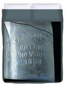 1858 Masons Jar Duvet Cover