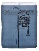 1858 Trumpet Patent Duvet Cover