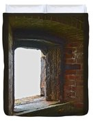 1861 Cannon Turret Fort Point San Francisco Bay Duvet Cover