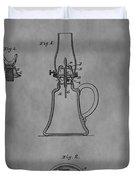 1861 Oil Lamp Patent Duvet Cover