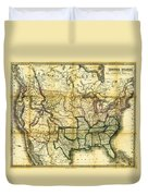 1861 United States Map Duvet Cover