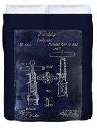 1862 Corkscrew Patent Drawing Duvet Cover