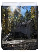 1868 Cable Mill At Cades Cove Tennessee Duvet Cover