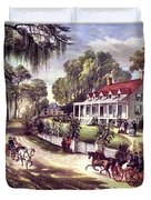 1870s 1800s A Home On The Mississippi - Duvet Cover
