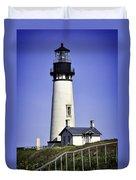 1872 Historic Lighthouse Duvet Cover