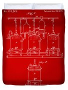 1873 Brewing Beer And Ale Patent Artwork - Red Duvet Cover