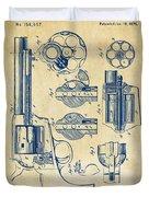 1875 Colt Peacemaker Revolver Patent Vintage Duvet Cover