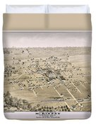 1876 Birds Eye Map Of Mckinney Texas Duvet Cover