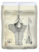 1878 Buoy Patent Drawing Duvet Cover