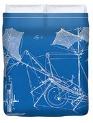 1879 Quinby Aerial Ship Patent Minimal - Blueprint Duvet Cover by Nikki Marie Smith