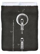 1880 Edison Electric Lamp Patent Artwork - Gray Duvet Cover