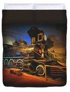 1880 Steam Locomotive  Duvet Cover