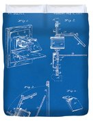 1881 Taylor Camera Obscura Patent Blueprint Duvet Cover