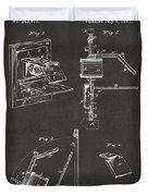 1881 Taylor Camera Obscura Patent Gray Duvet Cover