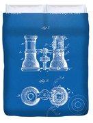 1882 Opera Glass Patent Artwork - Blueprint Duvet Cover